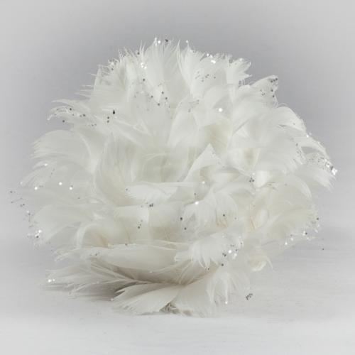 Boule plumes blanches
